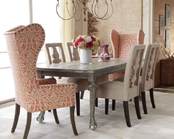 Of Color And Pattern That Is Impossible To Do With Standard Wood Dining Chairs Select A Chair Tall Back Add Grandeur Drama Your Space