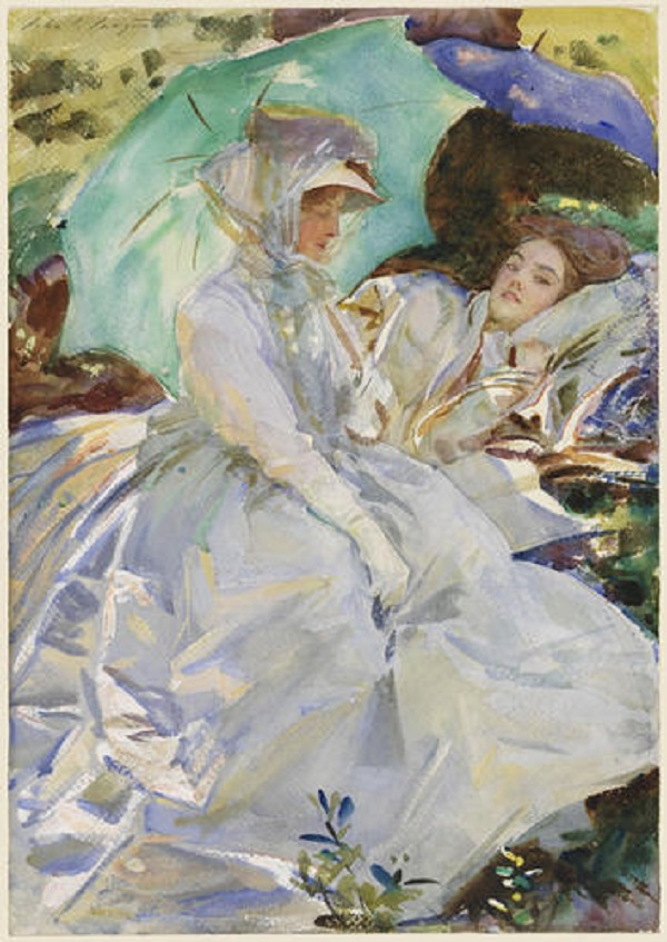 RESIZED.1_ John Singer Sargent Simplon Pass Reading, circa 1911