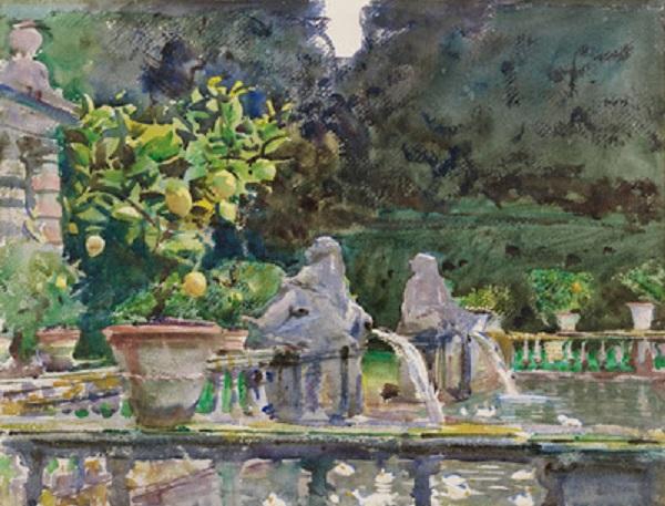 RESIZED.3_ John Singer Sargent, Villa di Marlia, Lucca A Fountain, 1910