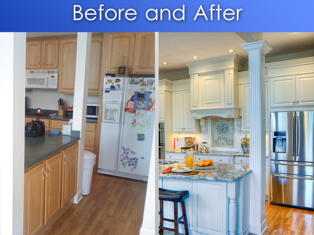Charming BeforeAfterKitchen. U201c