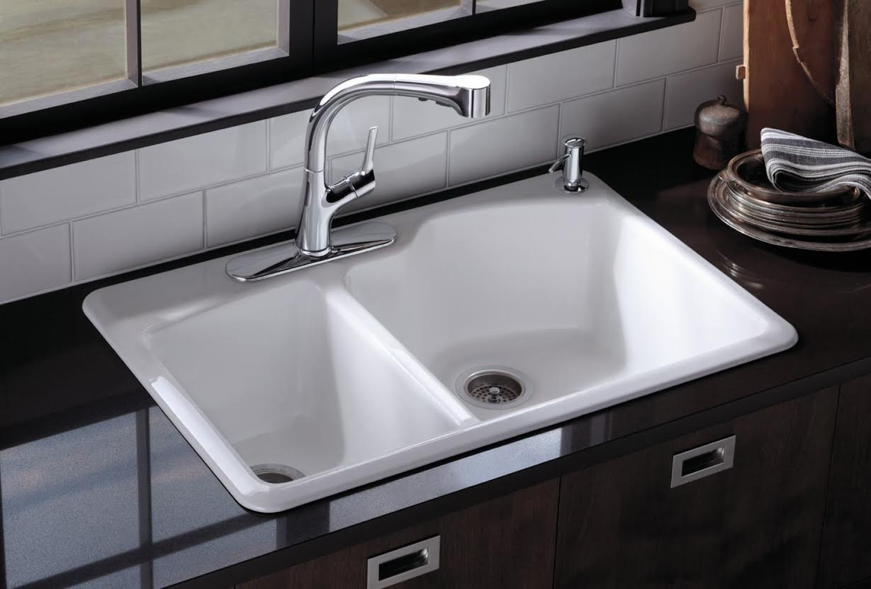 White Porcelain Double Kitchen Sink Part - 27: Haskell Interiors