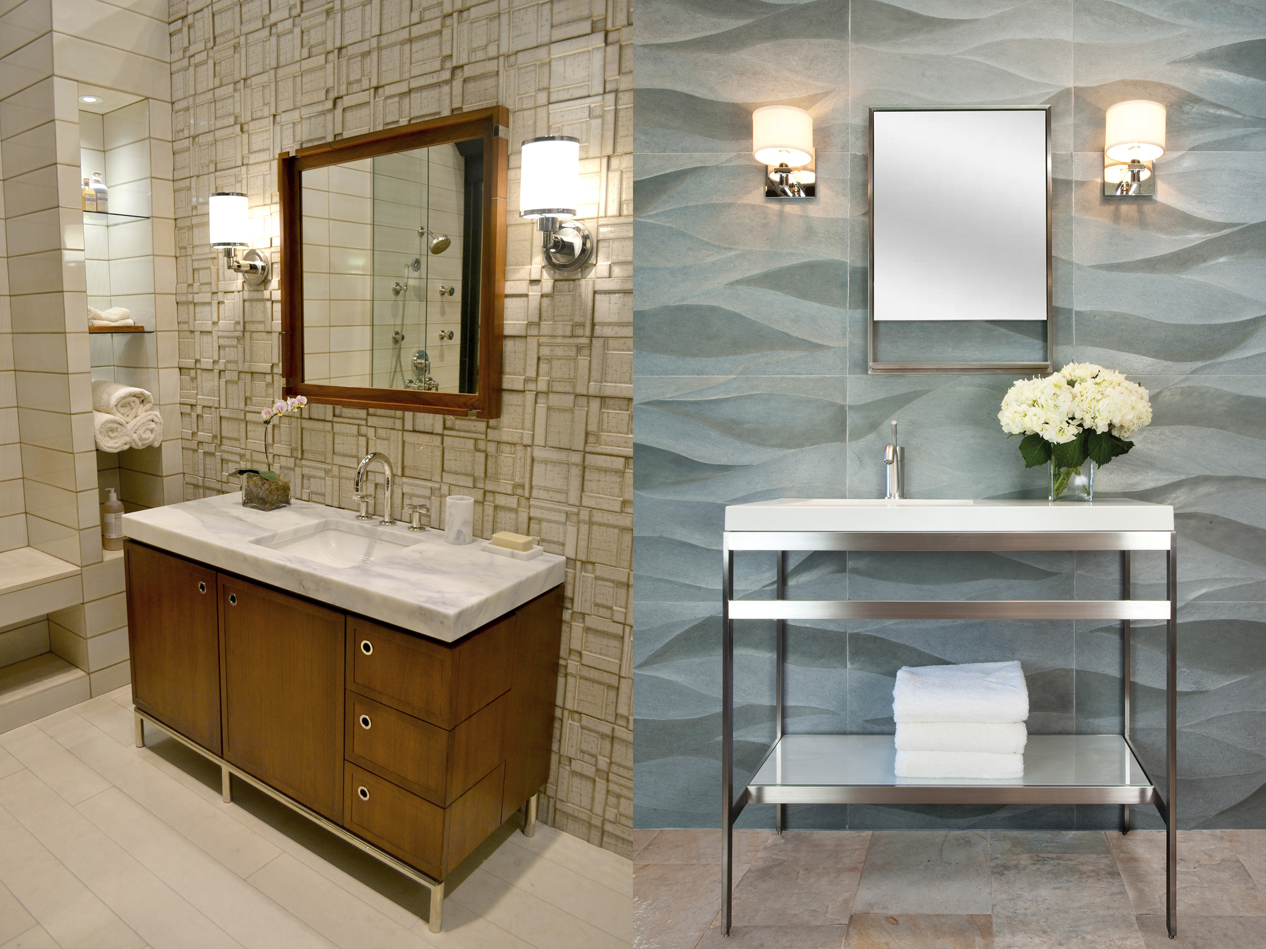 Bathroom trends for 2017 haskell 39 s blog for Tile trends 2017 bathroom